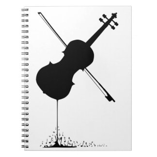Flowing Fiddle Music Spiral Notebook