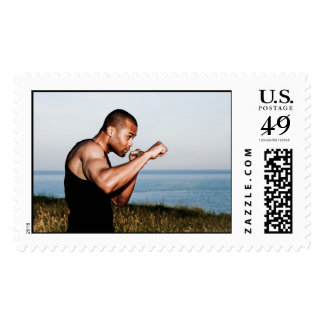 flowing fists postage stamp