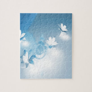 FLOWING FLORAL JIGSAW PUZZLE