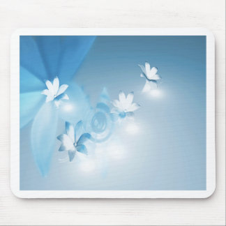 FLOWING FLORAL MOUSE PAD