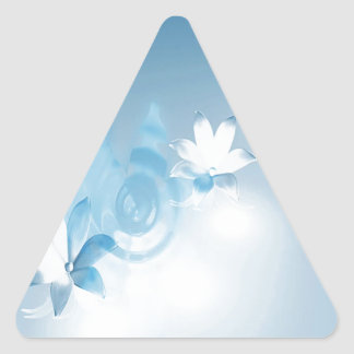FLOWING FLORAL TRIANGLE STICKER