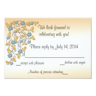 Flowing Garden Wedding Invitation RSVP, Reply Note