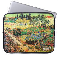 flowing garden with path, van Gogh Computer Sleeves
