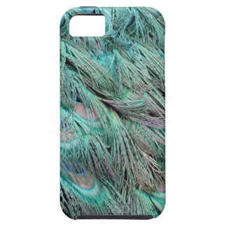 Flowing Green Feathers Hidden Blue Eyes iPhone SE/5/5s Case