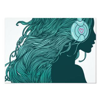 Flowing Headphone Hair Card