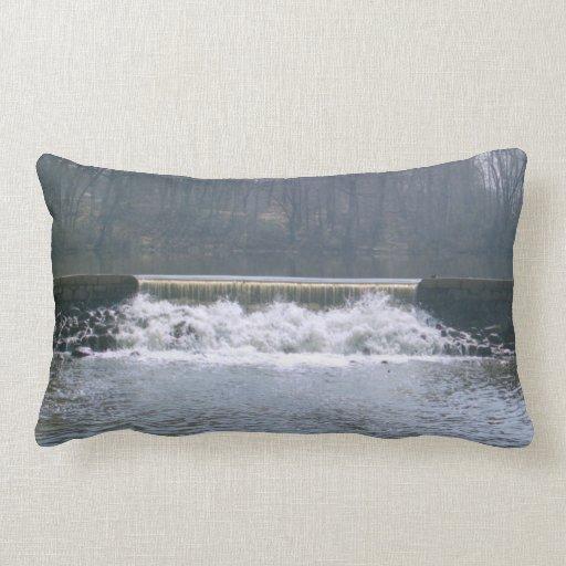 Flowing Over Grade A Cotton Throw Pillow Lumbar