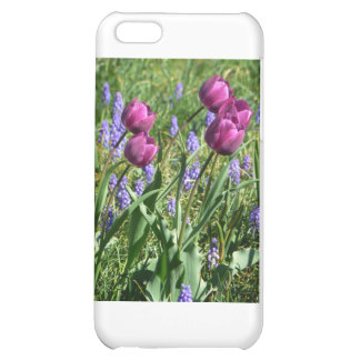 Flowing Purple Buds iPhone 5C Covers