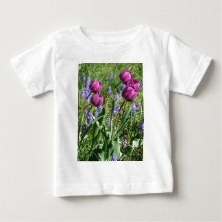 Flowing Purple Buds T Shirt