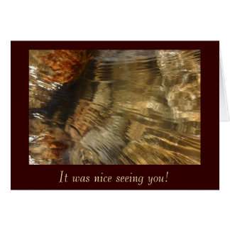 Flowing Riverbed Photo Card