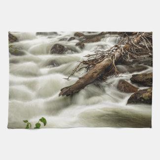 Flowing Rocky Mountain Stream Kitchen Towel