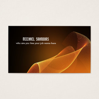 flowing silk waves business card