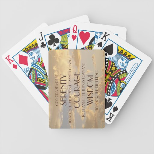 Flowing Sky Serenity Prayer Playing Cards