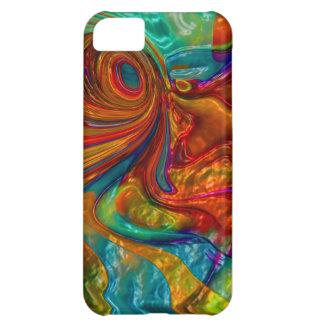flowing swirling elegant abstract satin eye iPhone 5C case