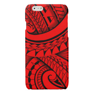 flowing swirly tribal tattoo design glossy iPhone 6 case
