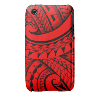 flowing swirly tribal tattoo design iPhone 3 cover