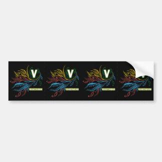 Flowing Vegetarian Colors Bumper Sticker