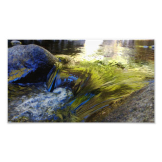 Flowing water photo print