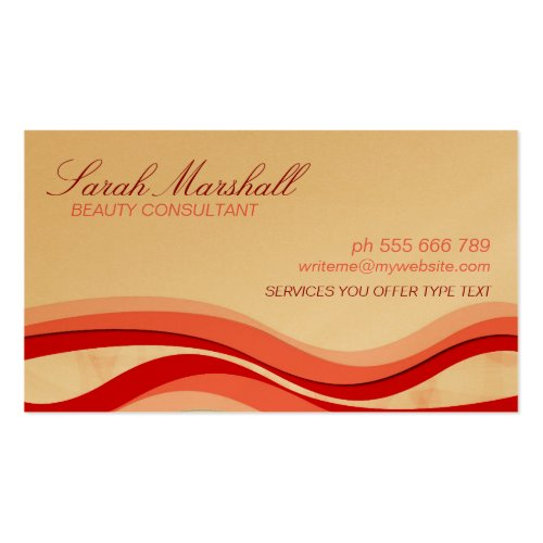 Flowing Waves Beauty Business Card