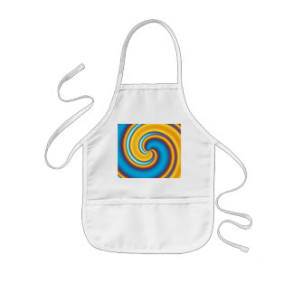 Flowing Yellow Abstract Vortex Kids' Apron