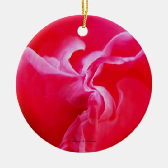 Flowingly Pink Ornament, by Kimmary I. MacLean Ceramic Ornament
