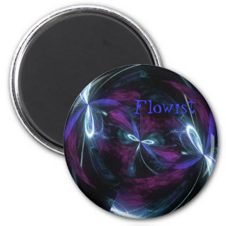 Flowist Electric Dragon Fly 2 Inch Round Magnet