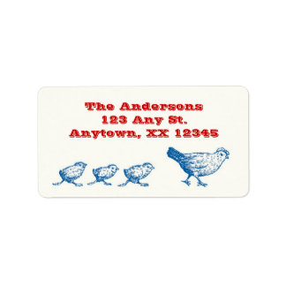 Flown the Coop Address Labels