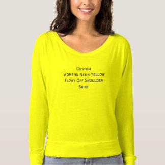 Flowy amarillo de neón para mujer de encargo de la playera