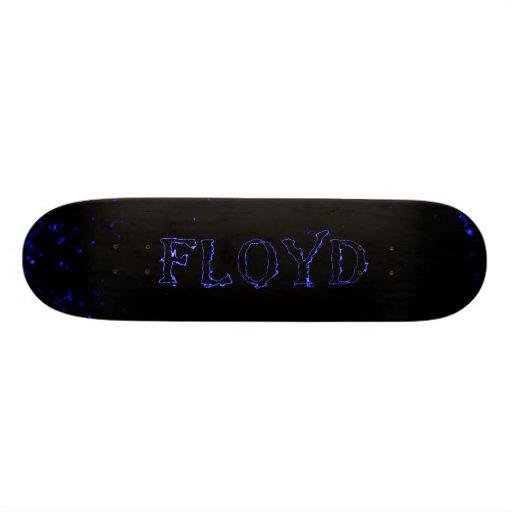 floyd blue lightning laser star custom skateboard