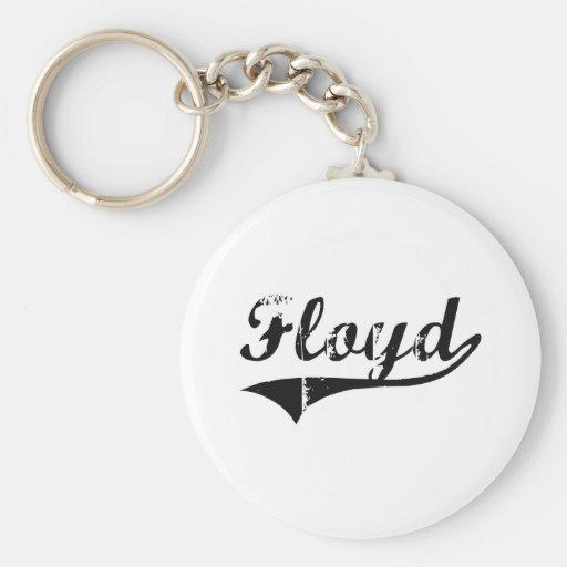 Floyd Classic Style Name Keychain