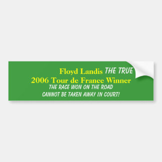 Floyd Landis 2006 Tour de France W... - Customized Bumper Sticker