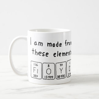 Floyd periodic table name mug