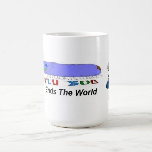 Flu Bug Ends The World Classic White Coffee Mug