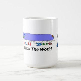 Flu Bug Ends The World Coffee Mugs
