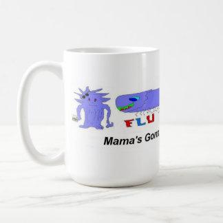 Flu Bug vs Mama Coffee Mugs