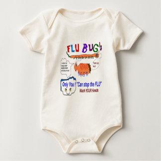 Flu Bugs Baby Bodysuit