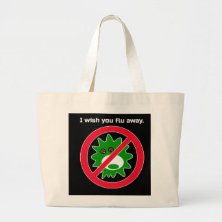 Flu Germs Go Away Large Tote Bag