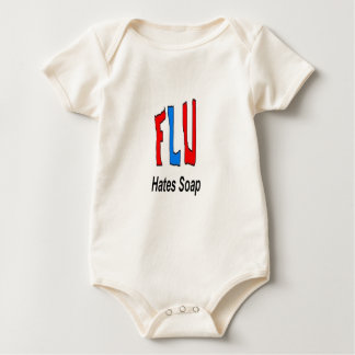 Flu Hates Soap Baby Bodysuit