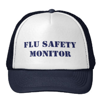 Flu Safety Monitor Mesh Hats