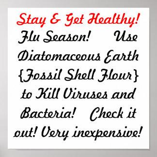 Flu Season Remedy Cure Print