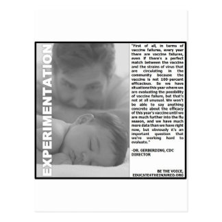 flu shot experimentation, just a guess postcard
