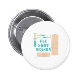 Flu Shot Pinback Button
