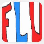 FLU SQUARE STICKER