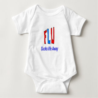 Flu Sucks Life Away Baby Bodysuit