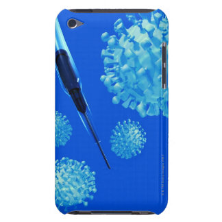 Flu vaccine, conceptual computer artwork. Case-Mate iPod touch case