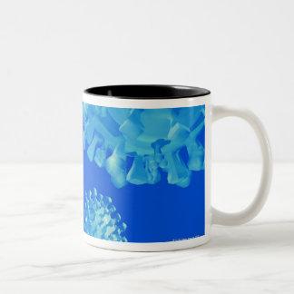 Flu vaccine, conceptual computer artwork. Two-Tone coffee mug
