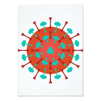 Flu Virus Invitations