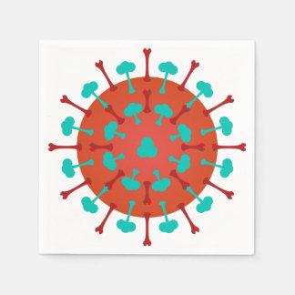 Flu Virus Paper Napkins