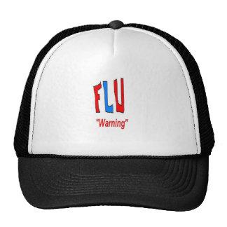 Flu Warning Hats