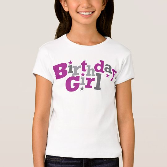 Fluctuating Type Birthday Girl Shirt