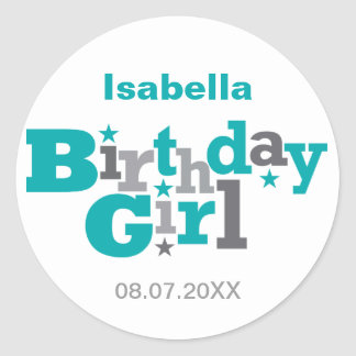 Fluctuating Type Birthday Girl Sticker